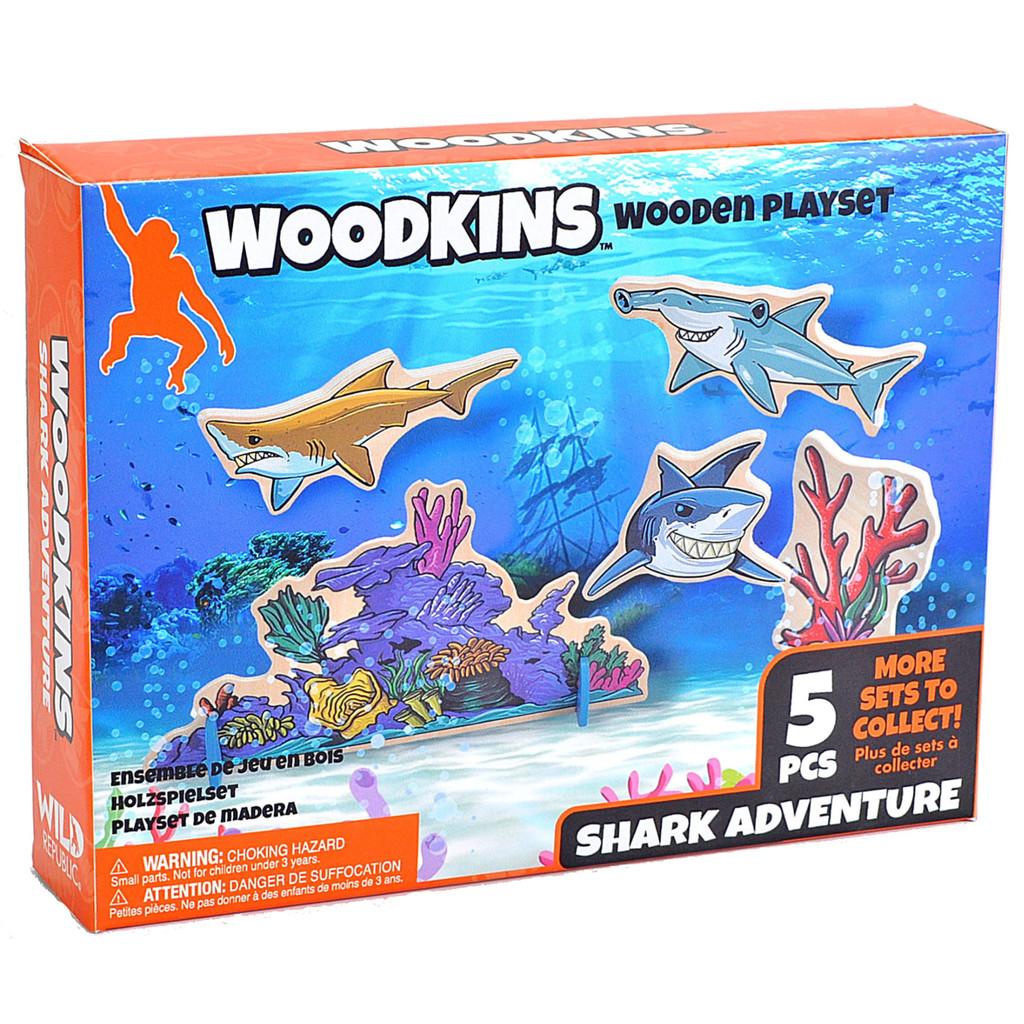 Woodkins Shark Adventure box