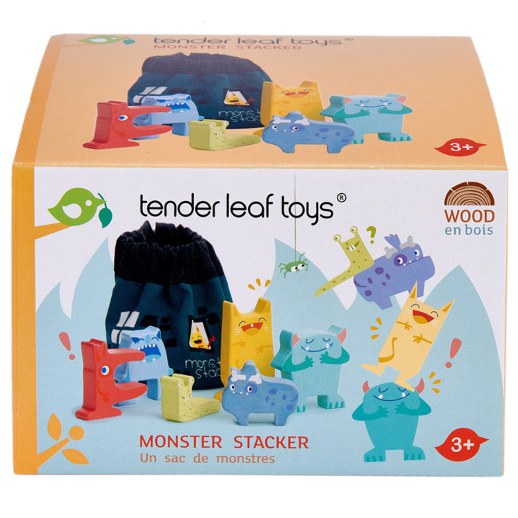 Tender Leaf Toys Monster Stackers with Bag in box