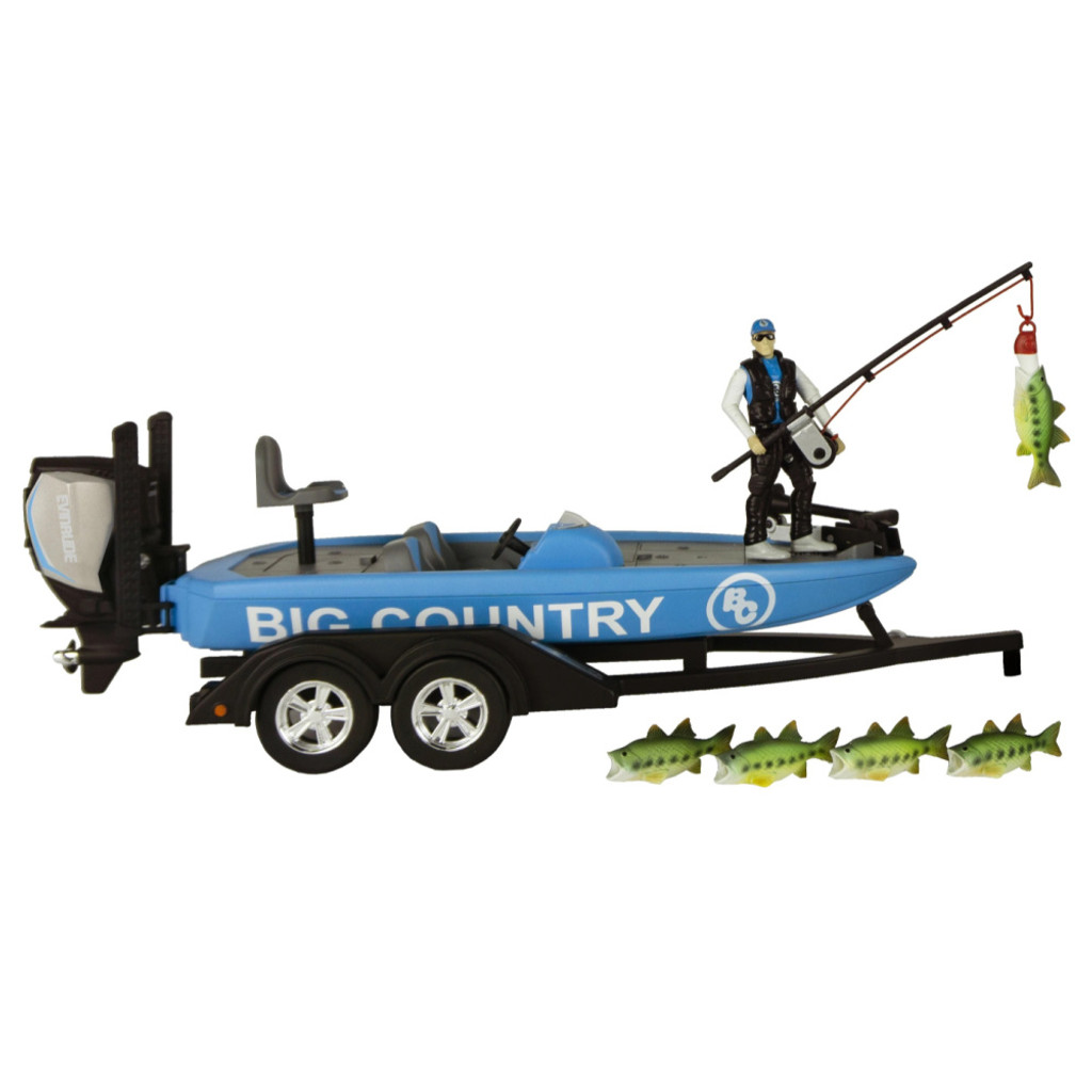 Big Country Toys Bass Boat and Implements