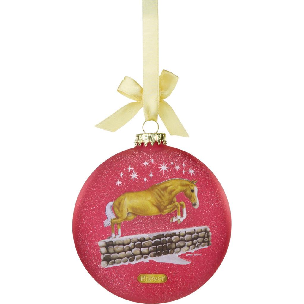 Breyer 2021 Artist Signature Ornament Ltd Edition Palomino jumping side