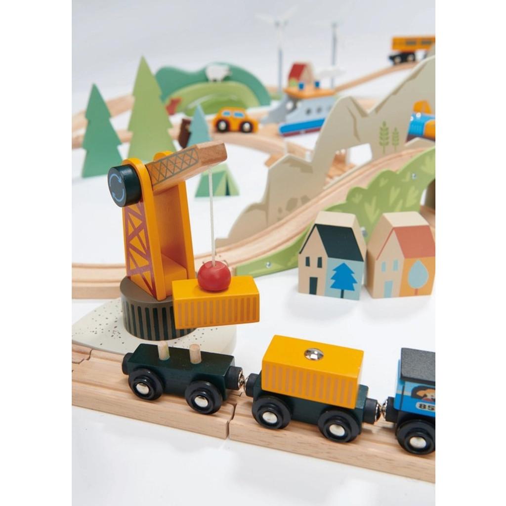 Tender Leaf Toys Mountain View Train Set