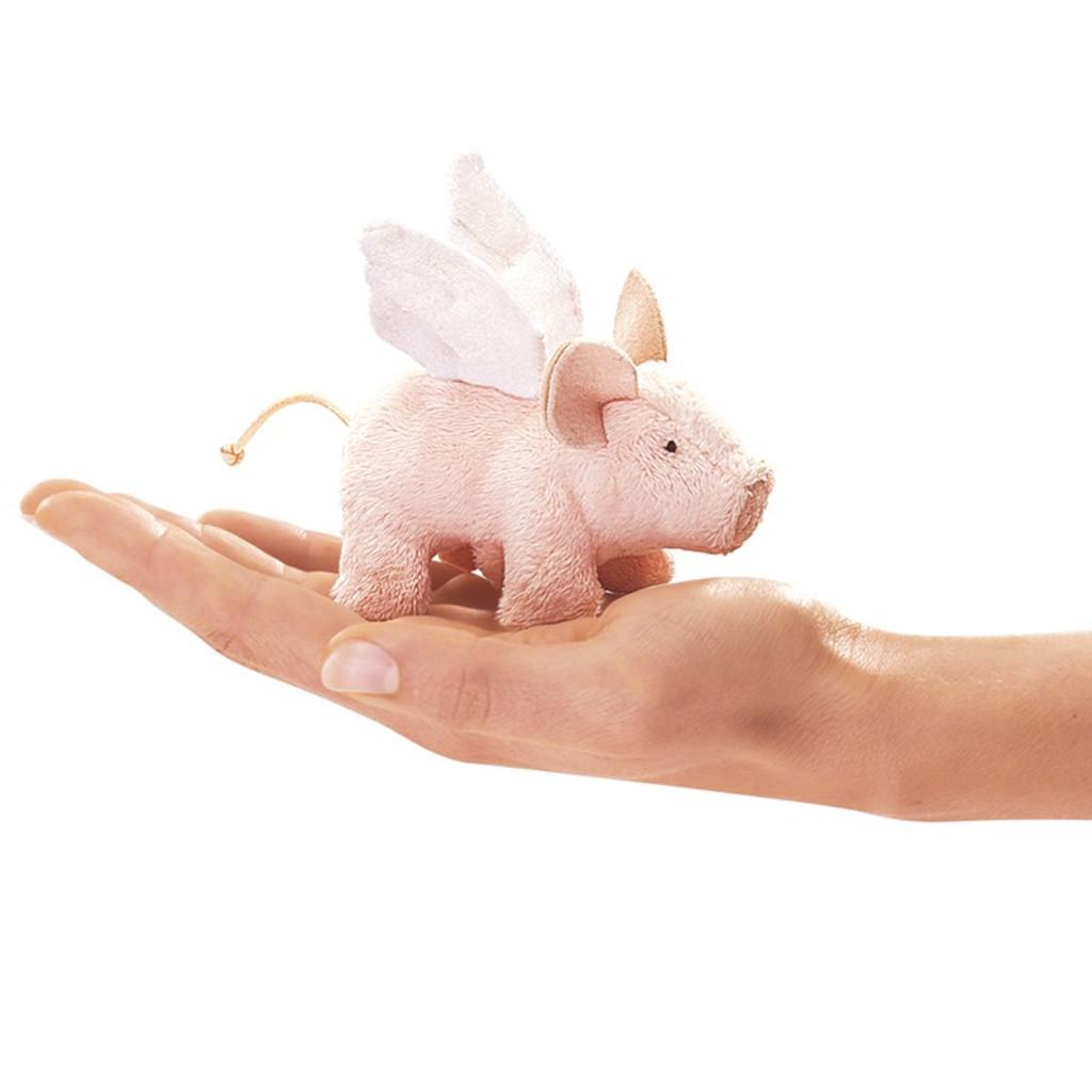 Winged Piglet Finger Puppet
