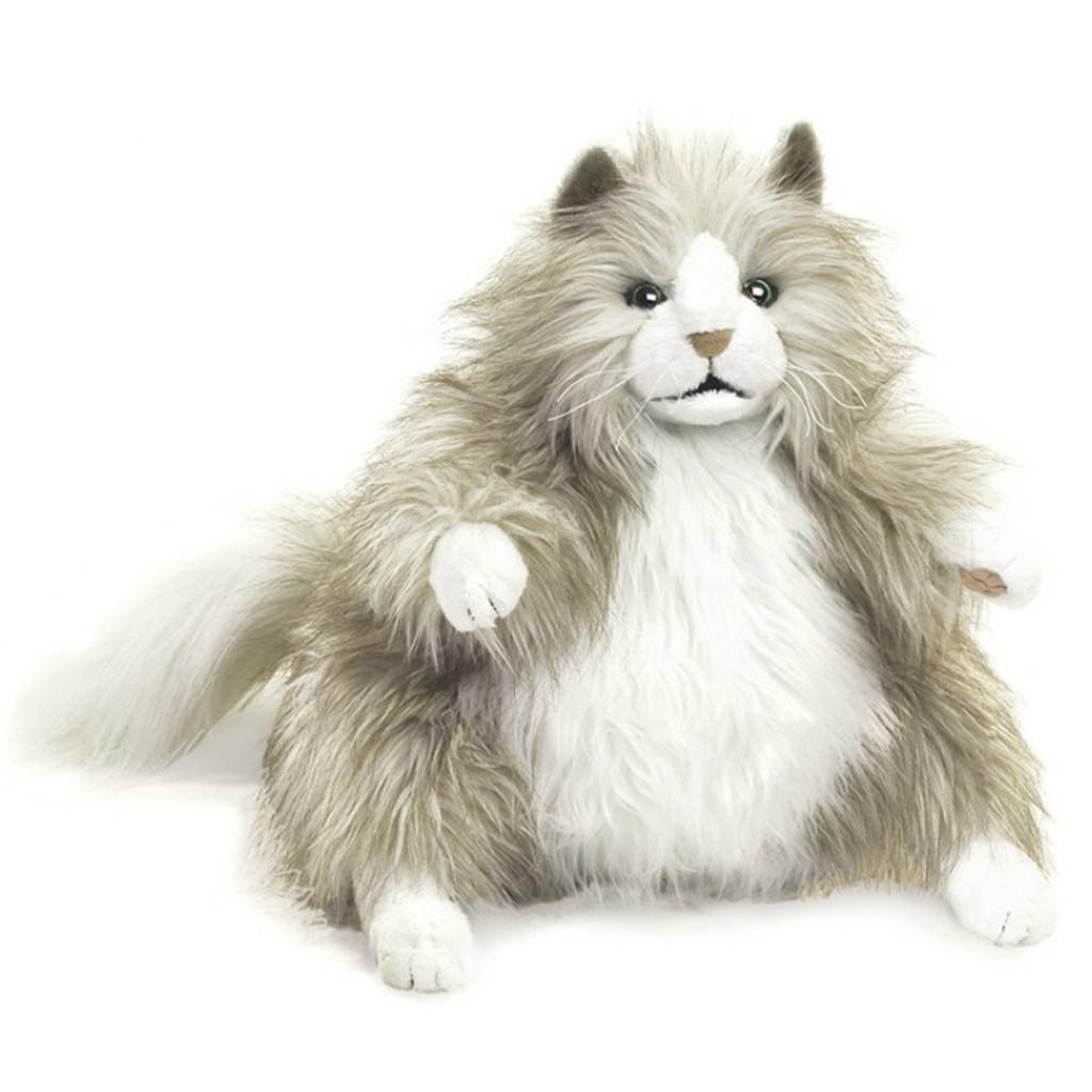 Fluffy Cat Hand Puppet