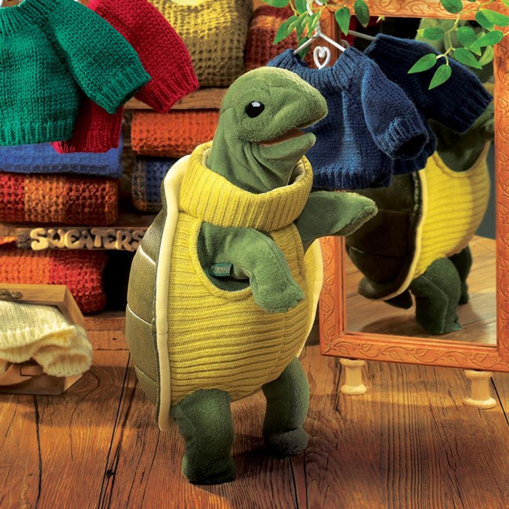 Turtleneck Turtle Hand Puppet
