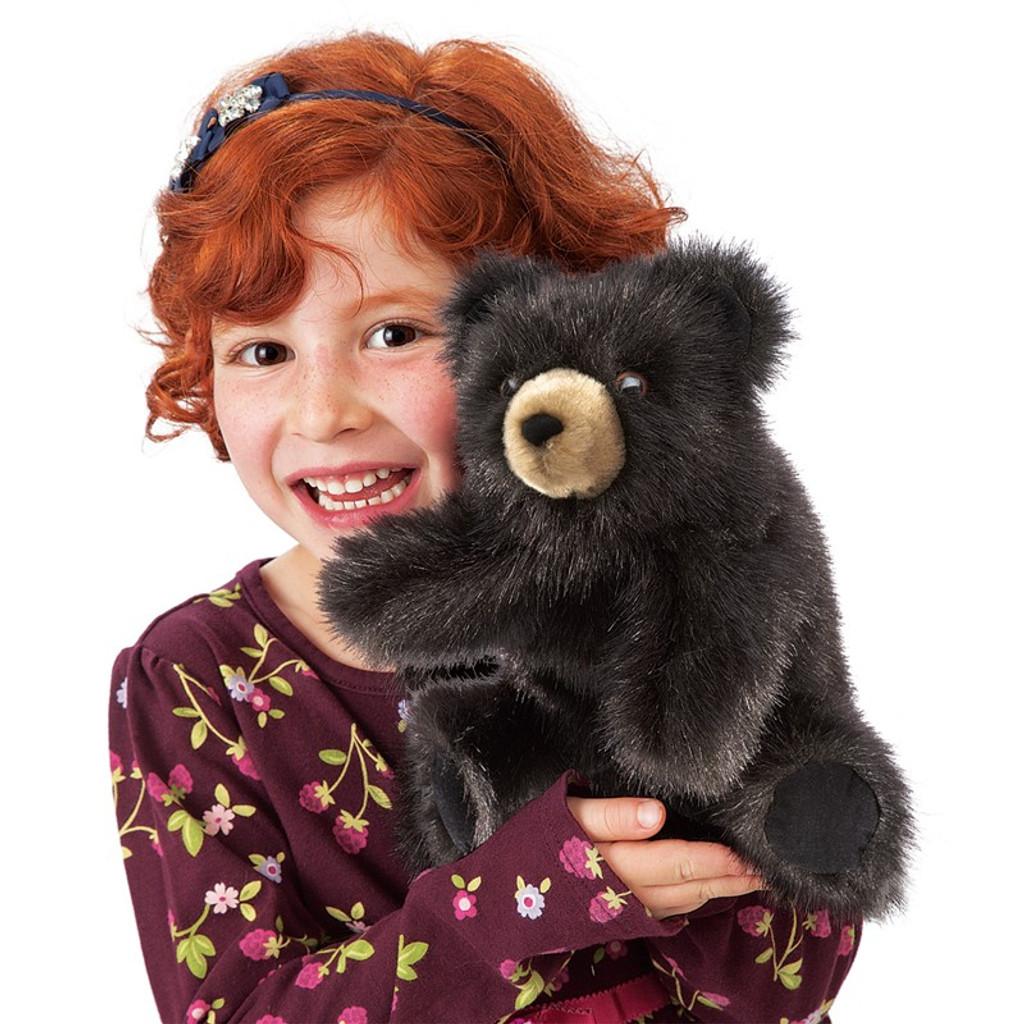 Bear Black Baby Hand Puppet