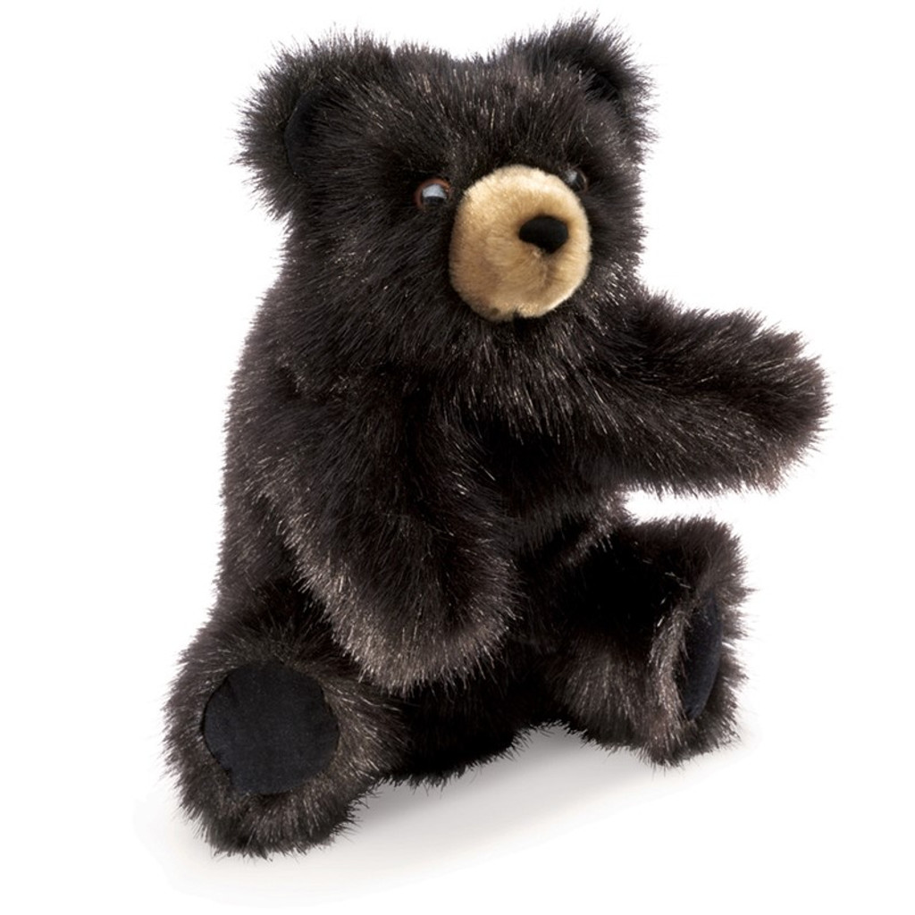 Folkmanis Bear Black Baby Hand Puppet