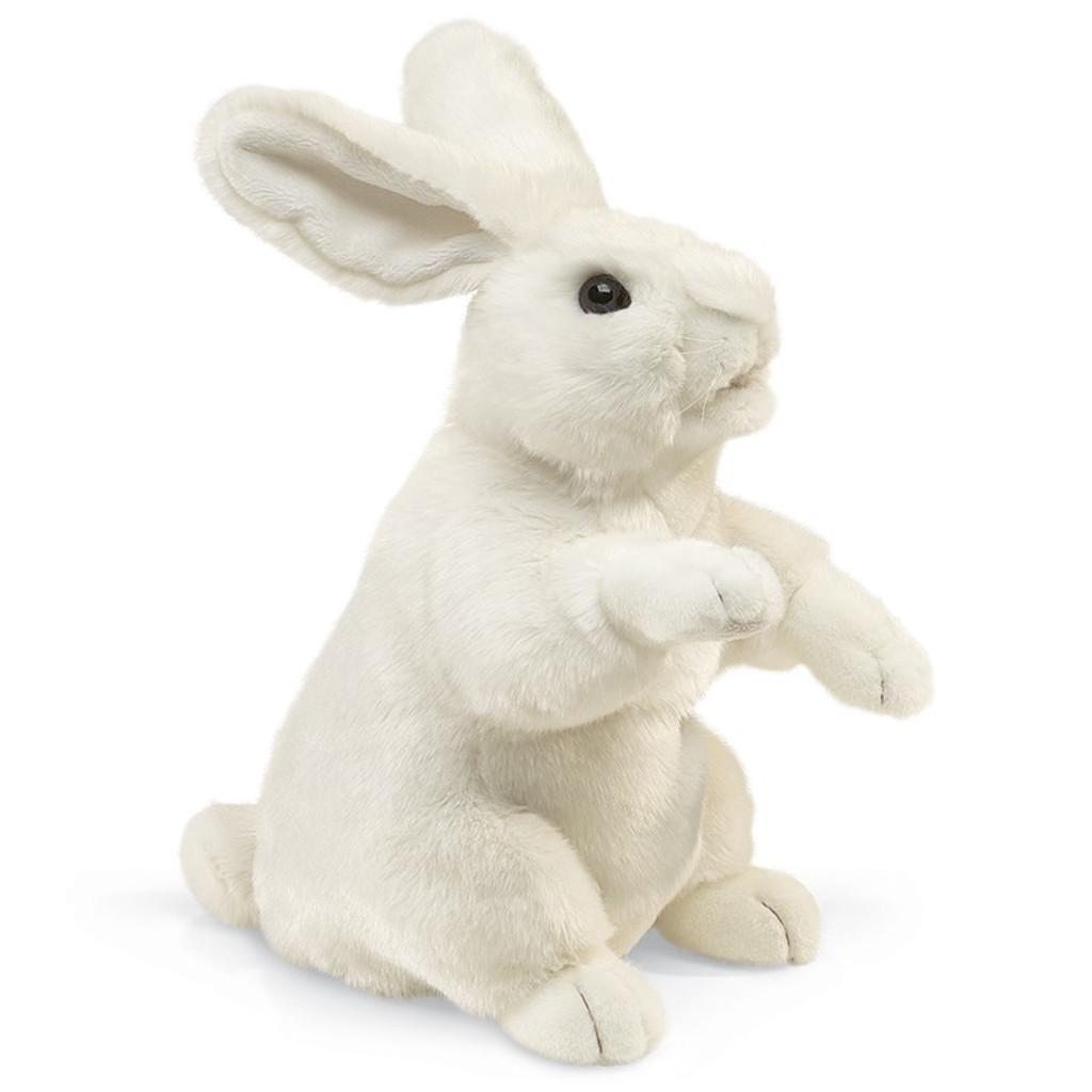 White Rabbit Standing Hand Puppet