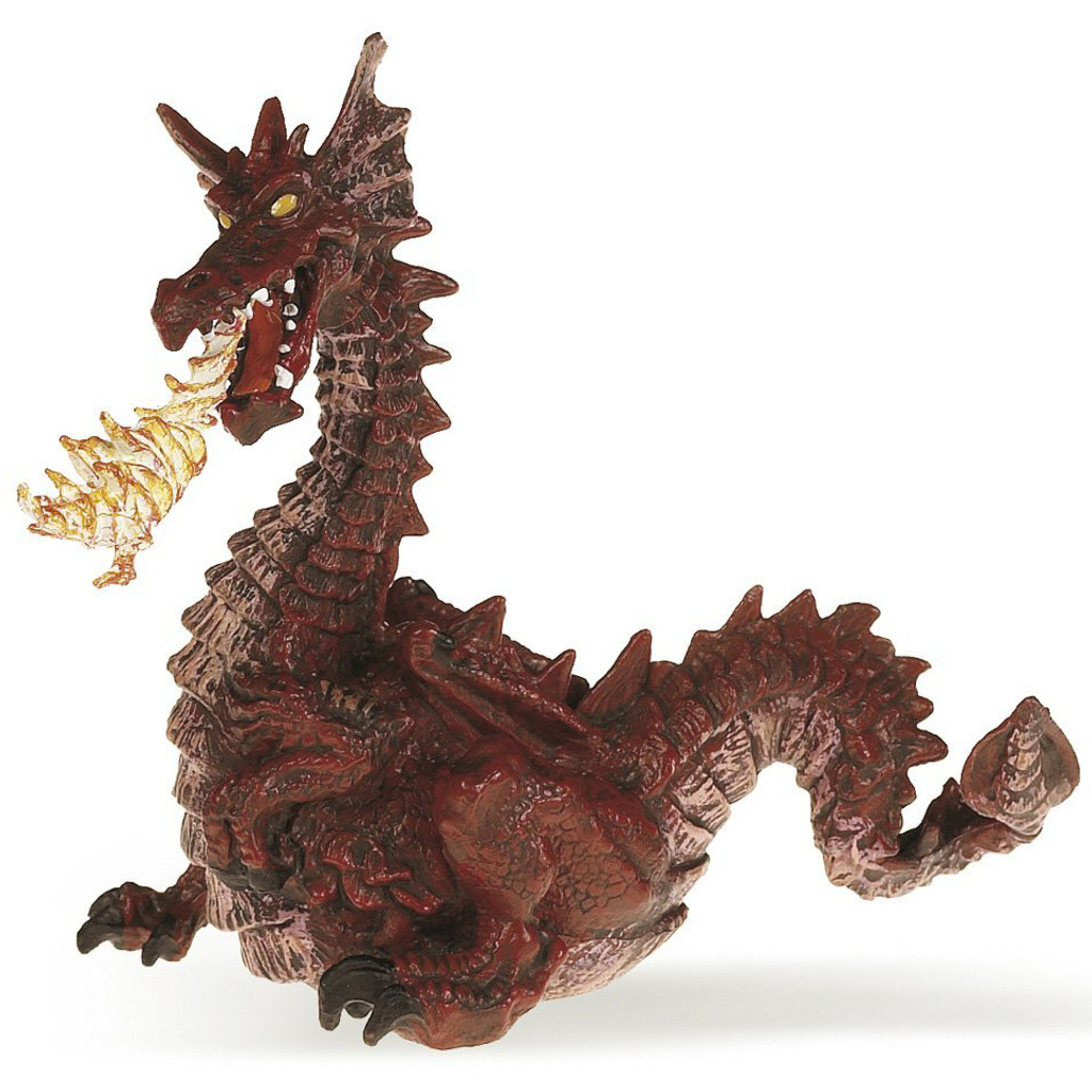 Papo Red Dragon with Flame