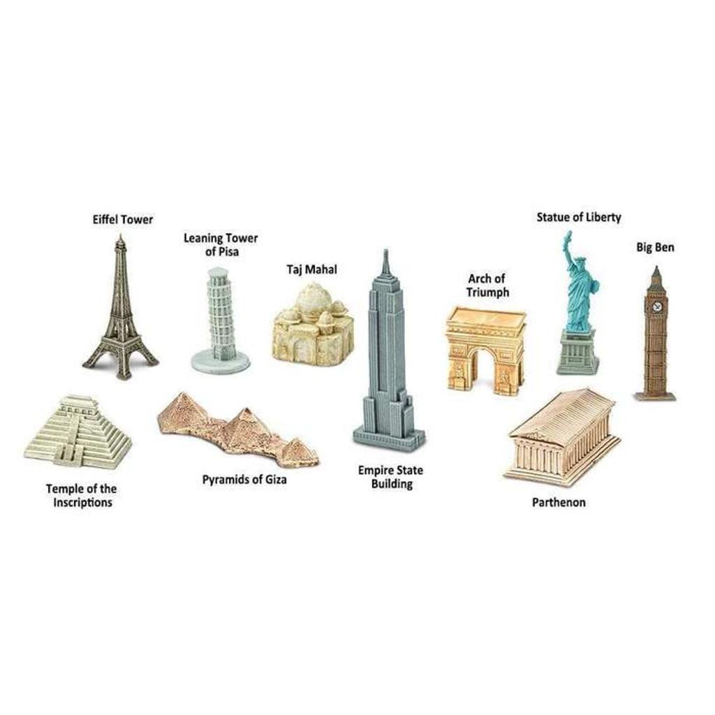 Safari Ltd Around the World Toob inclusions with names