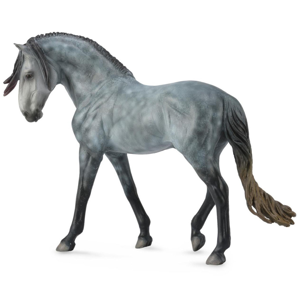 Andalusian Stallion Dapple Grey Deluxe Scale