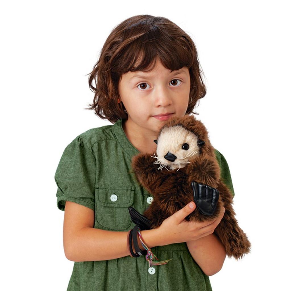 Sea Otter Baby Hand Puppet