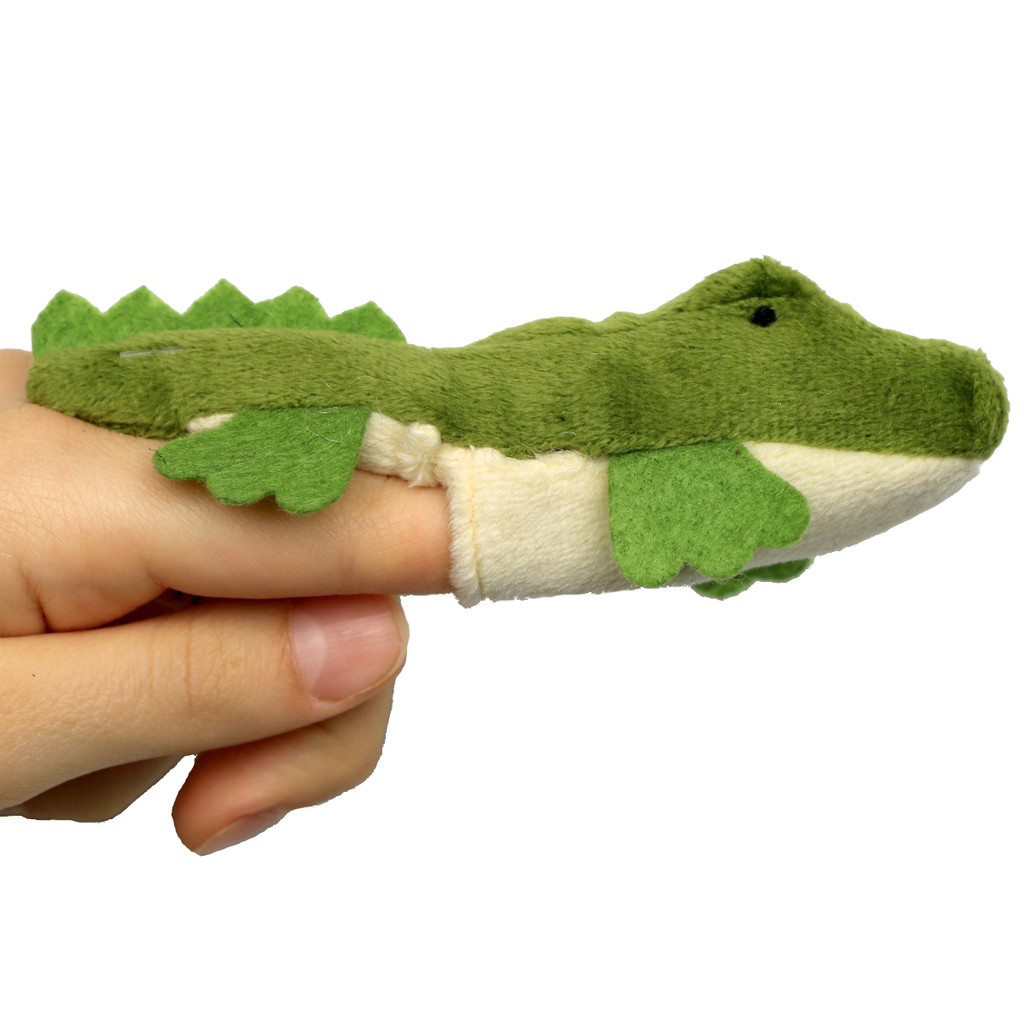 Science and Nature Crocodile Finger Puppet