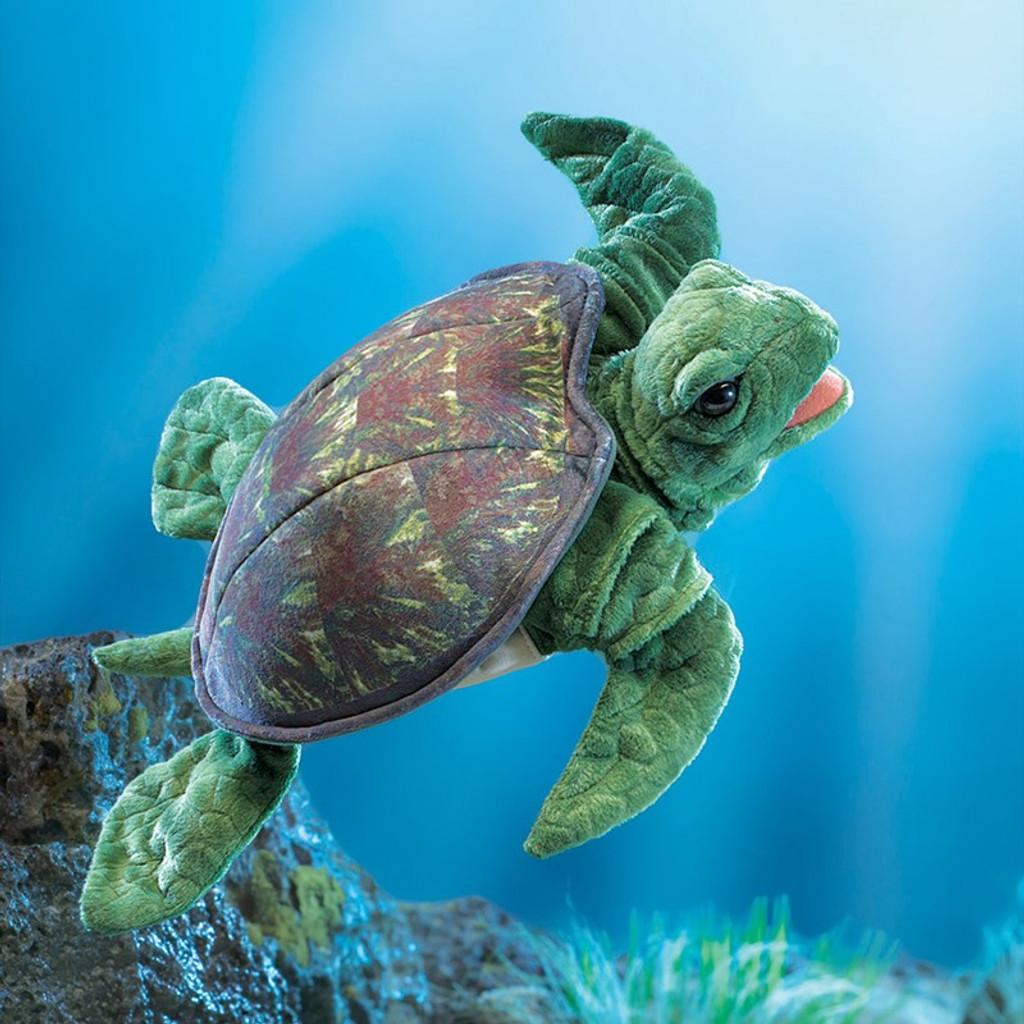 Folkmanis Sea Turtle Hand Puppet