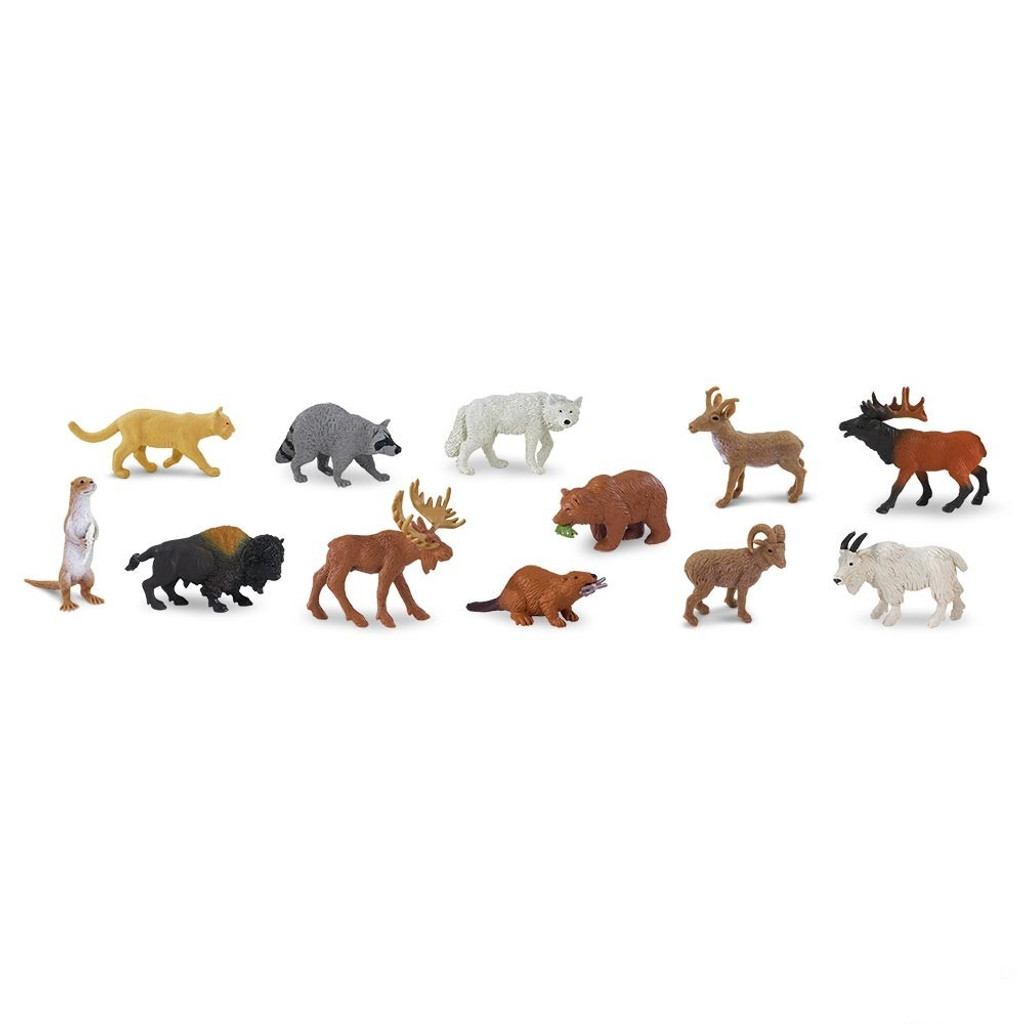 Safari Ltd North American Wildlife Bulk Bag 48pc