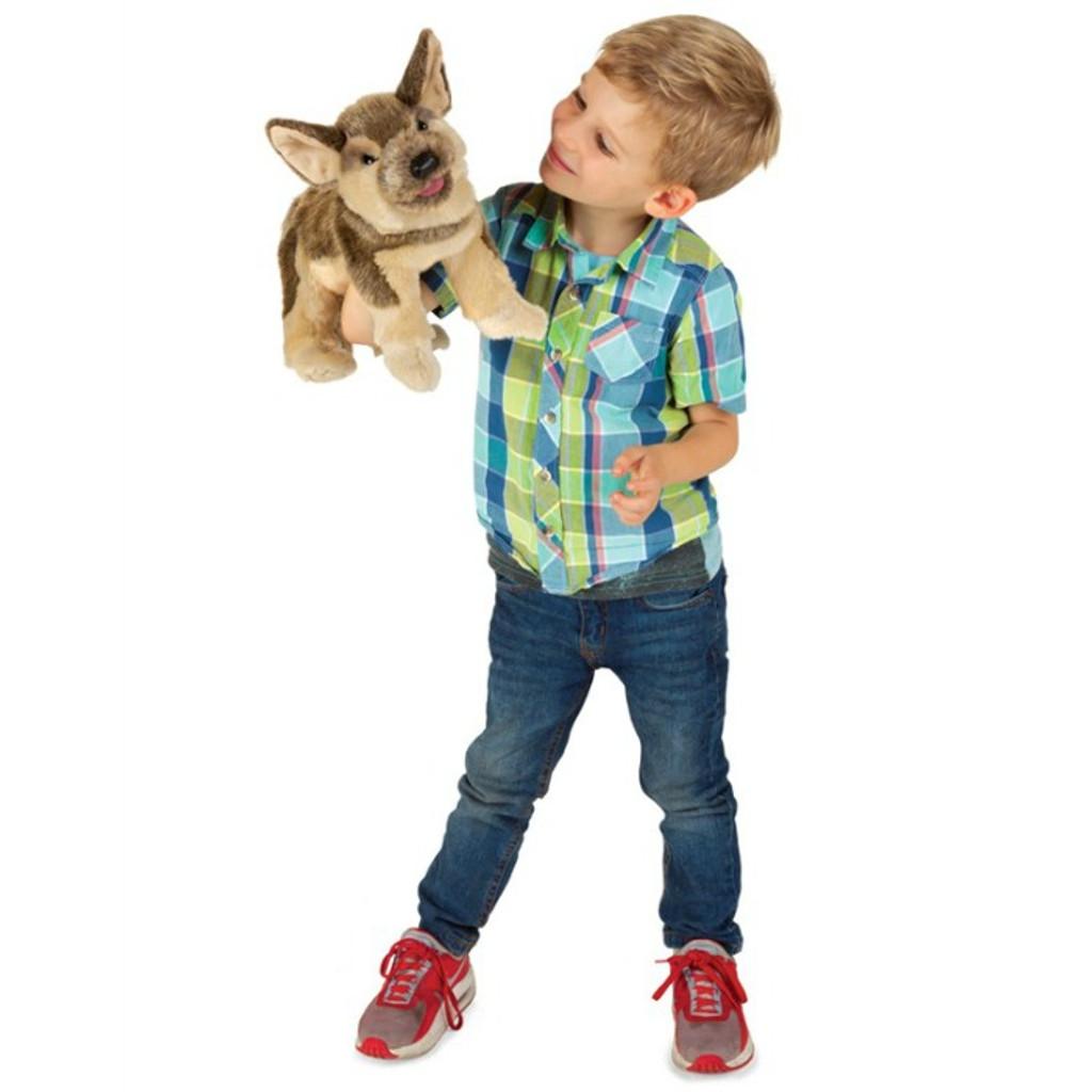 Folkmanis German Shepherd Puppy Puppet