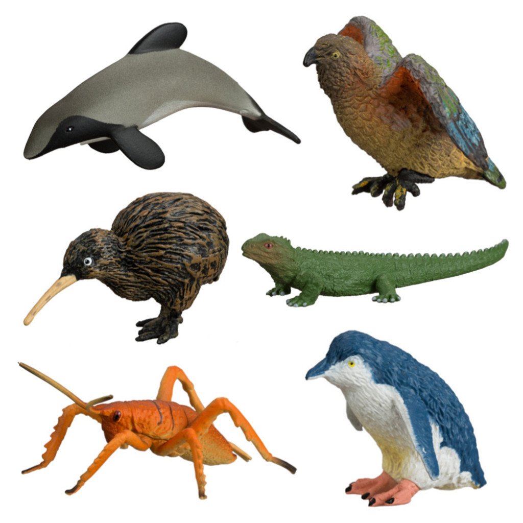 Pack of 6 NZ Wild Figures
