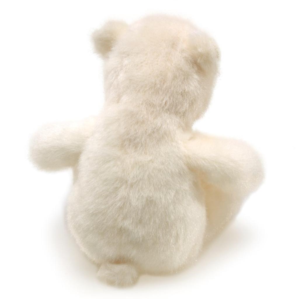 Polar Bear Finger Puppet back view