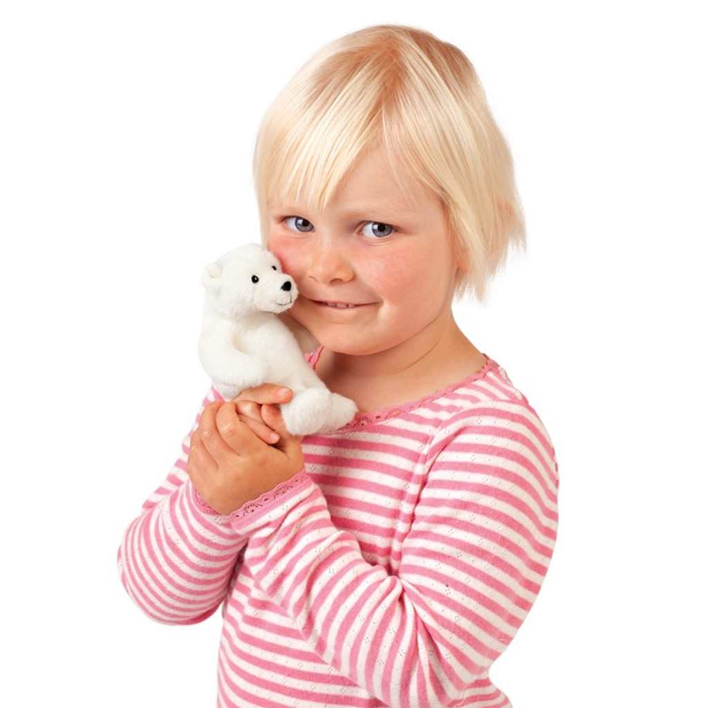 Polar Bear Finger Puppet with child