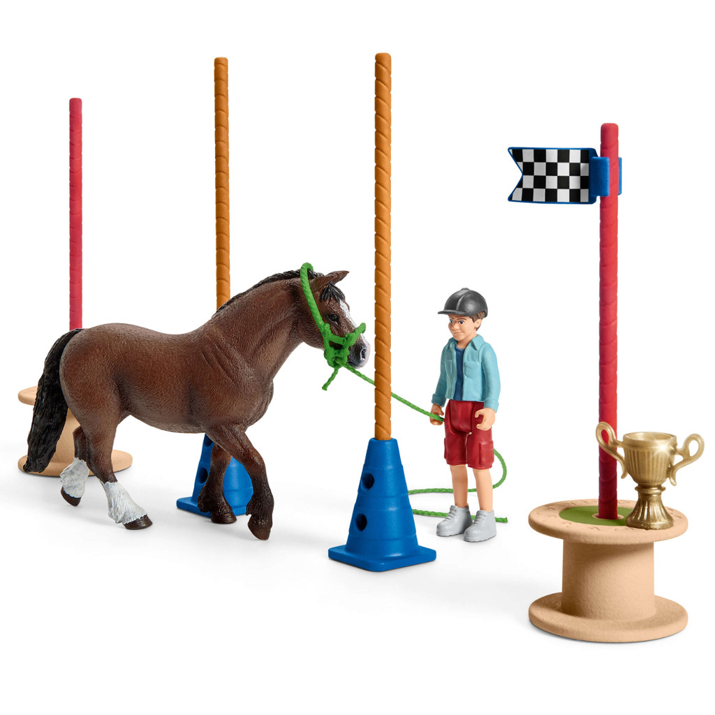 Schleich Pony Agility Race weaving horse