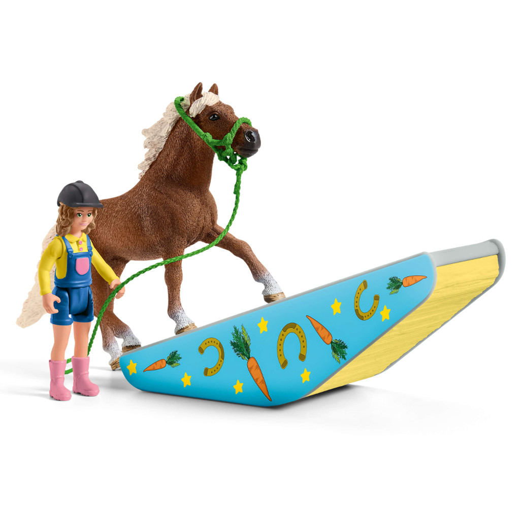 Schleich Pony Agility Training seesaw obstacle