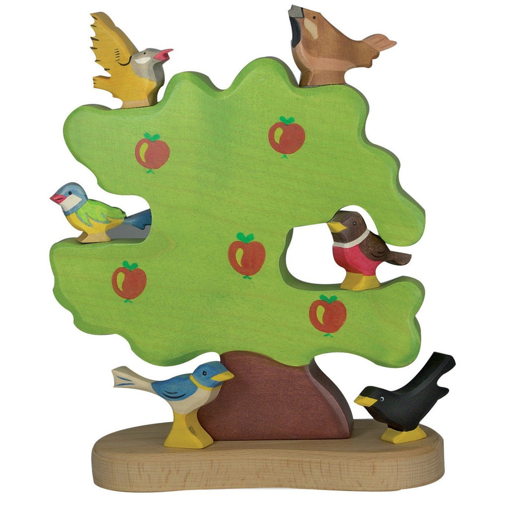 Holztiger Apple Tree with birds (sold separately)