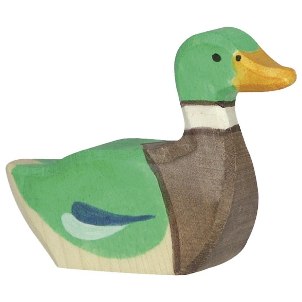 Holztiger Drake Swimming