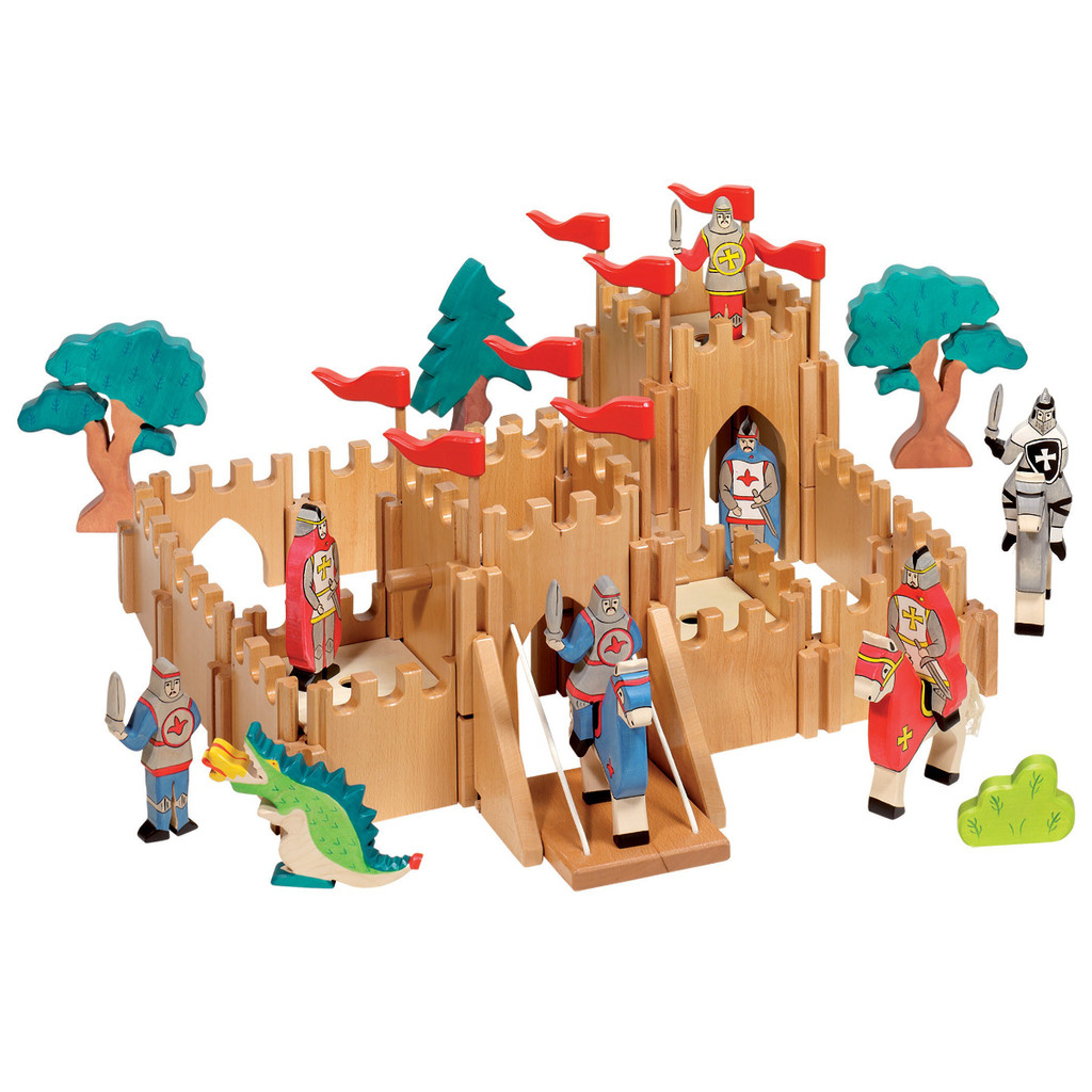 Holztiger Knight's Castle with accessories (sold separately).