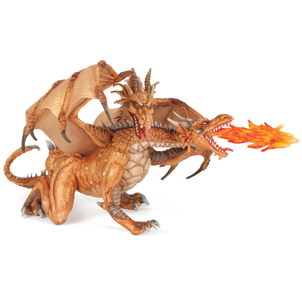 Papo Two Headed Dragon Gold