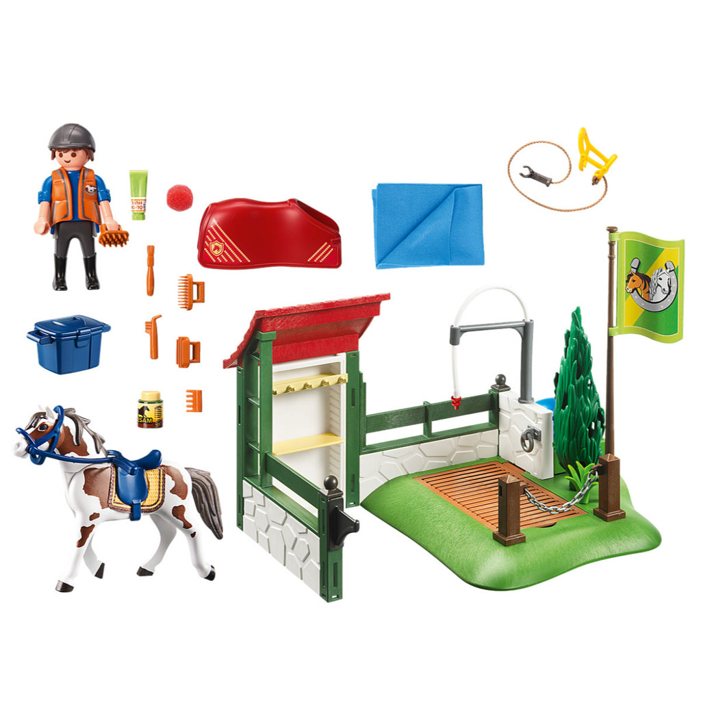 Playmobil Horse Grooming Station inclusions
