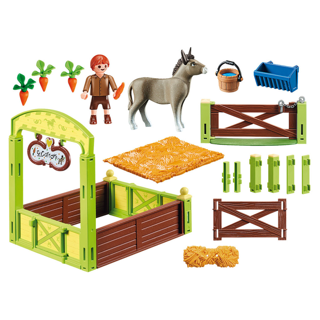 Playmobil Snips & Se'±or Carrots with Horse Box inclusions