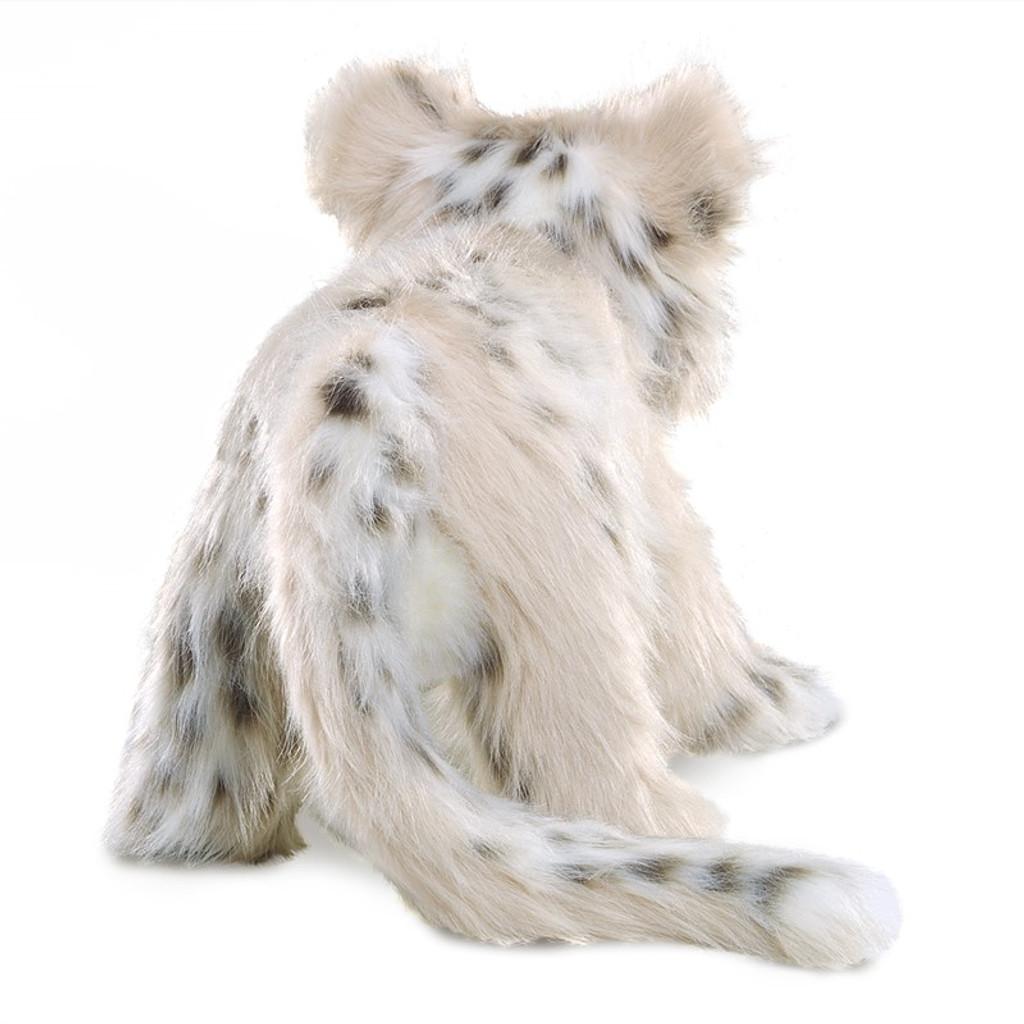 Folkmanis Snow Leopard Cub Puppet back