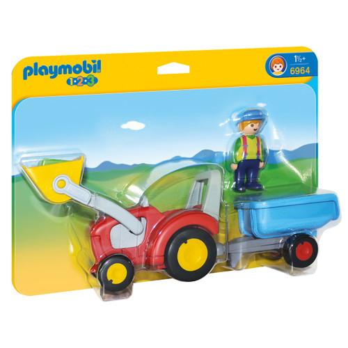 Playmobil Tractor with Trailer packaging
