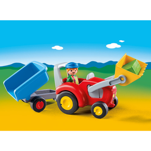 Playmobil Tractor with Trailer lifestyle