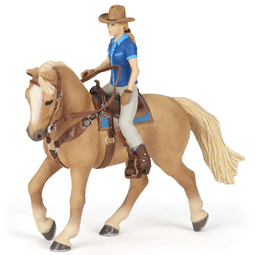 Papo Wild West Horse and Cowgirl 51566