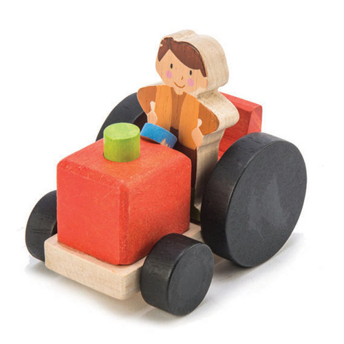 Tender Leaf Toys Little Barnyard Set tractor with farmer
