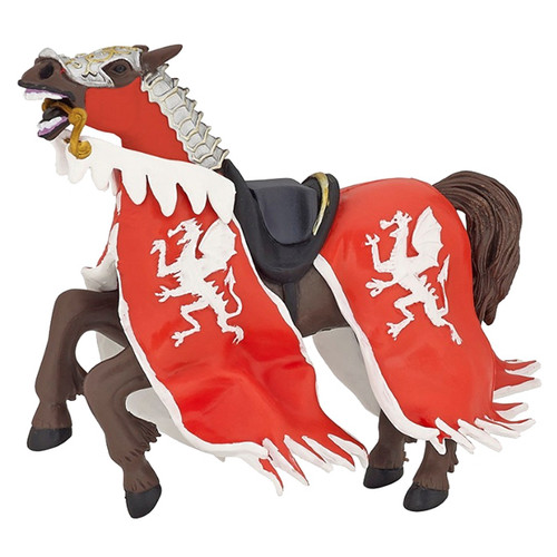 Papo Dragon King Horse Red