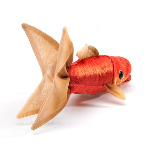 Folkmanis Mini Goldfish Finger Puppet back