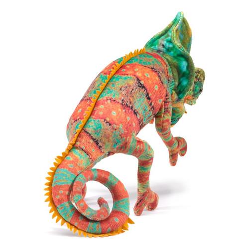 Folkmanis Small Chameleon Hand Puppet back