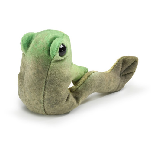 Folkmanis Mini Frog Sitting Finger Puppet back