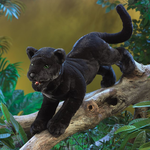 Folkmanis Black Panther Puppet lifestyle