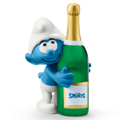 Schleich Smurf With Bottle 20821