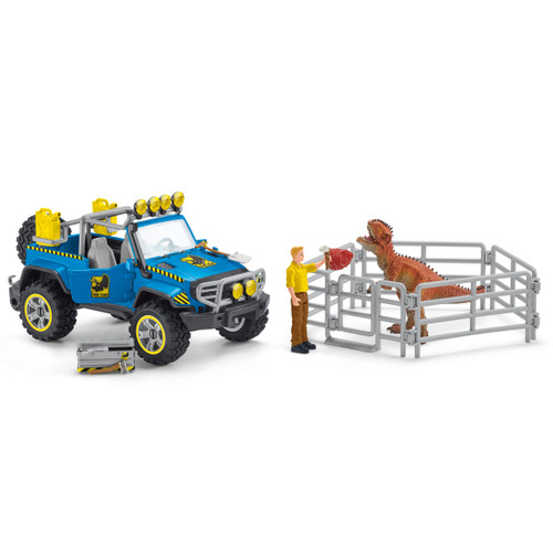 Schleich Off-Road Vehicle With Dino Outpost 41464