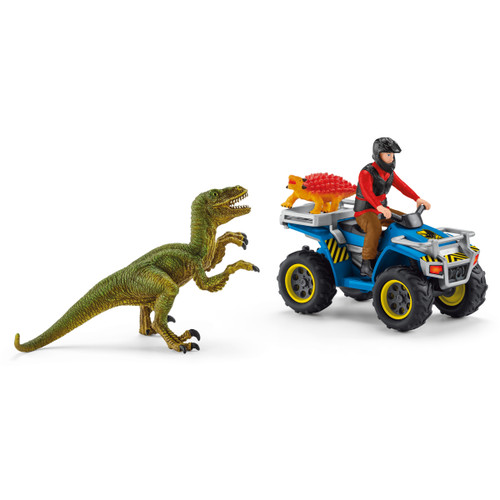 Schleich Quad Escape from Velociraptor 41466