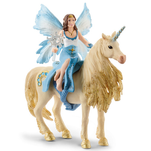 Schleich Eyela Riding On Golden Unicorn 42508