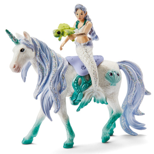 Schleich Mermaid Riding On Sea Unicorn 42509