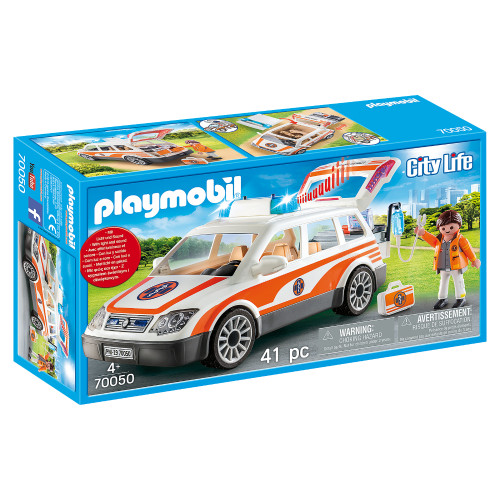 Playmobil Emergency Car with Siren packaging