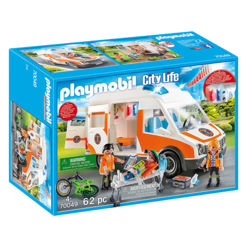 Playmobil Ambulance with Flashing Lights box