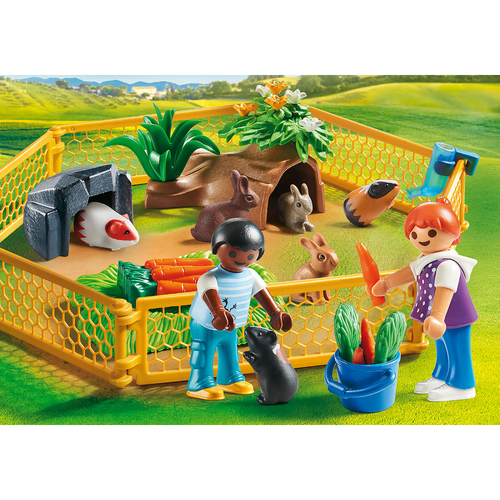 Playmobil Farm Animal Enclosure lifestyle
