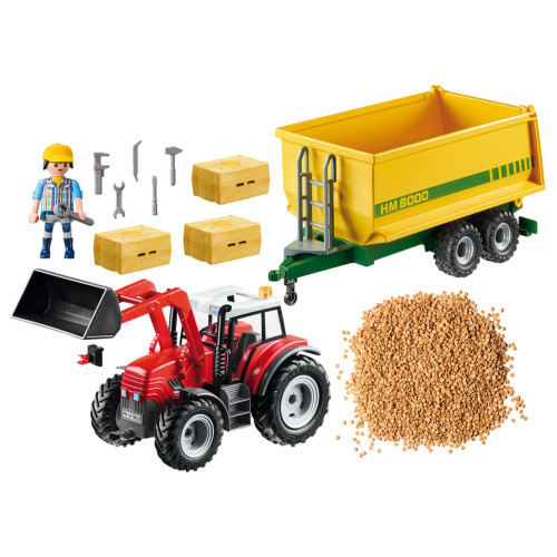 Playmobil Tractor with Feed Trailer inclusions