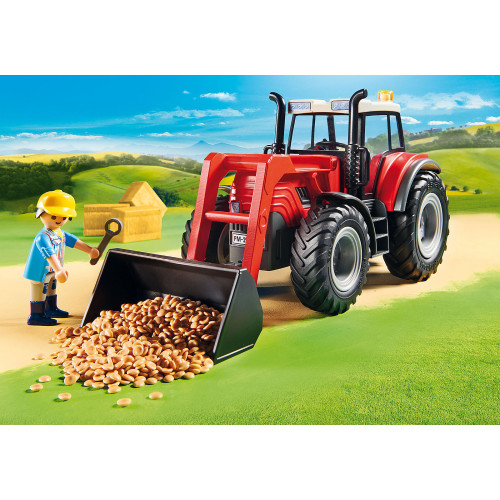 Playmobil Tractor with Feed Trailer lifestyle 2